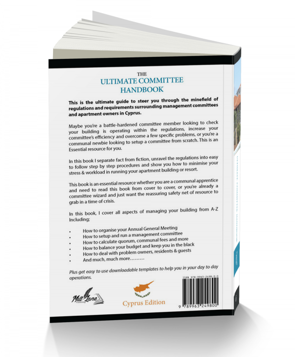 Ultimate Committee Handbook - Back Cover